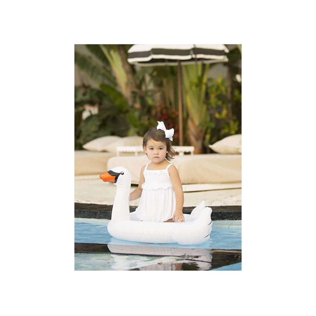 Pink N' Proper:The Inflatable Baby Swan Float