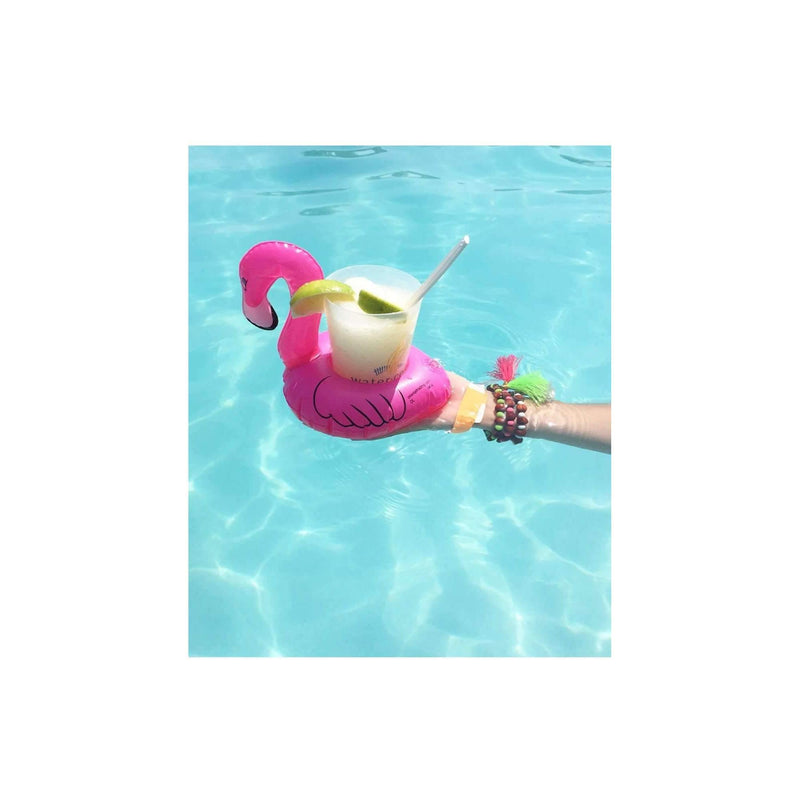Pink N' Proper:The Inflatable Flamingo Drink Holder Float