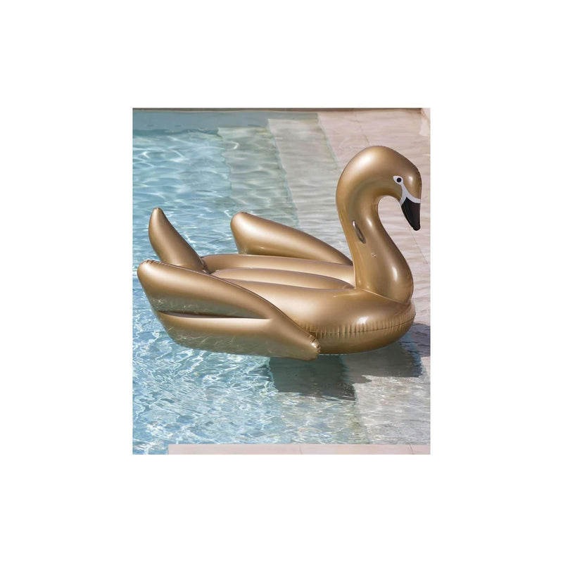 Pink N' Proper:The Inflatable Golden Swan Float
