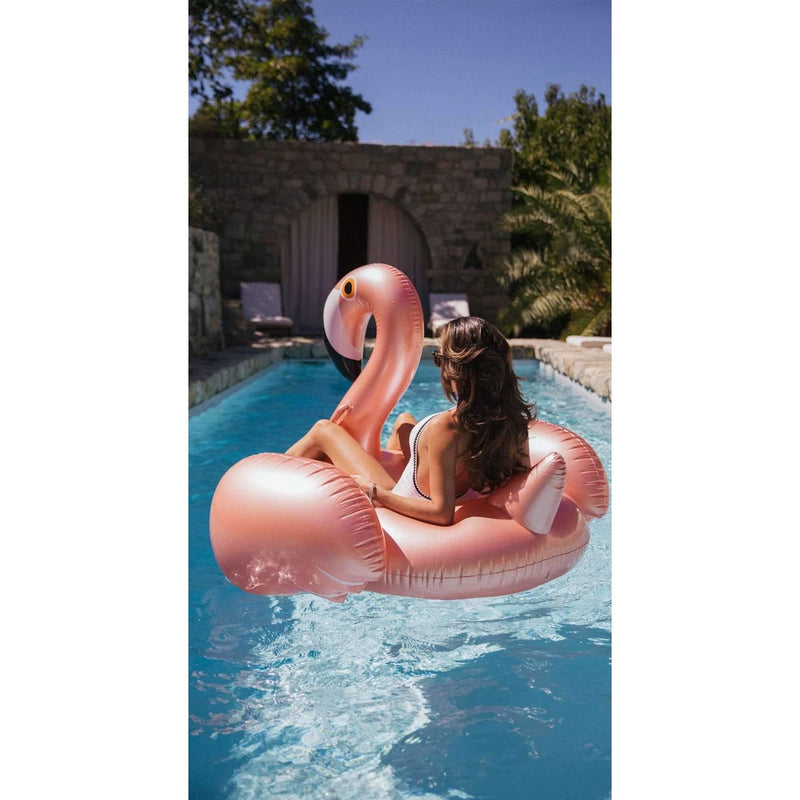 Pink N' Proper:The LIMITED EDITION Inflatable Rose Gold Flamingo Float