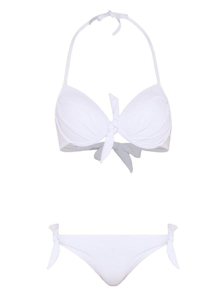 The White Basic Push Up Bikini-Pink N' Proper
