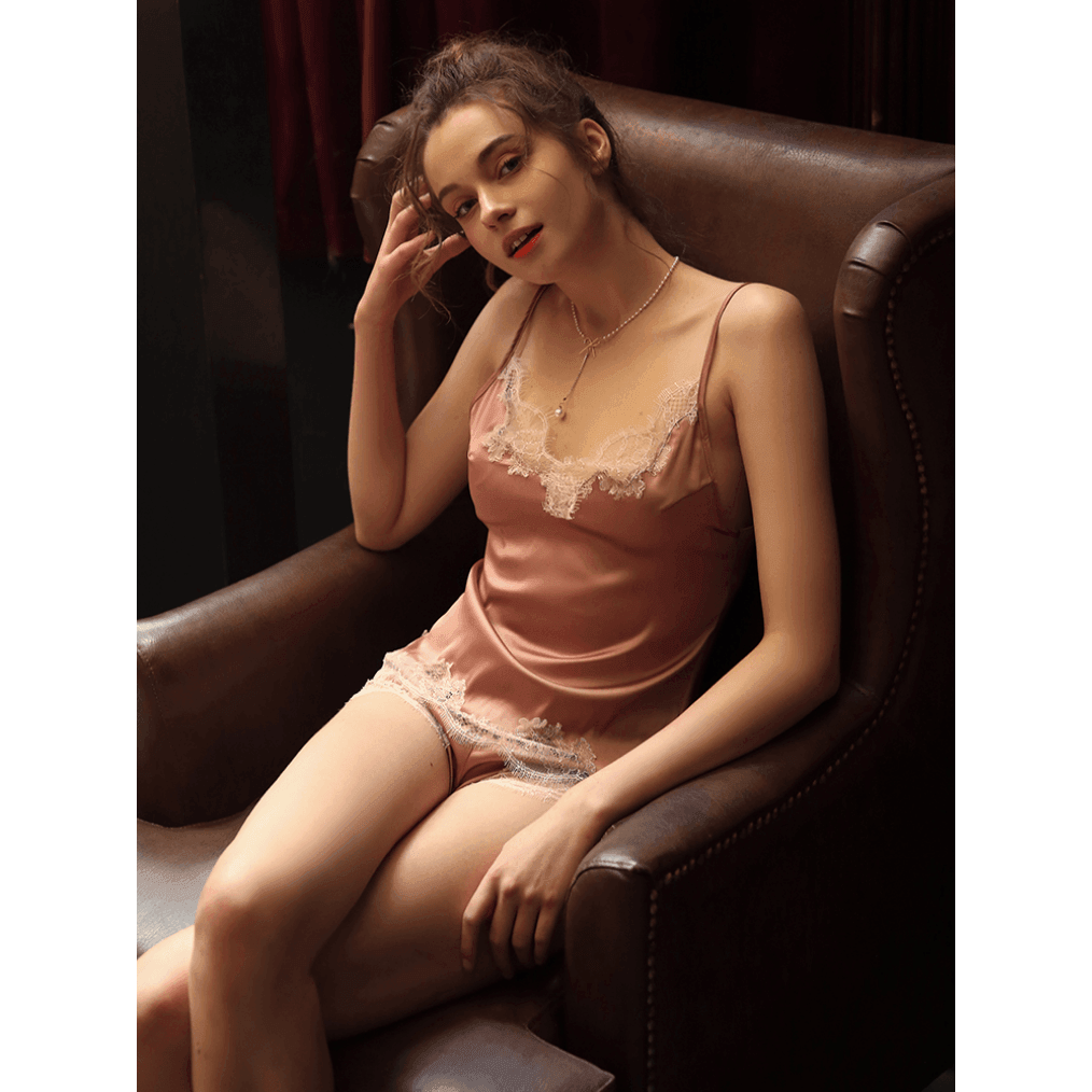Pink N' Proper:René Satin Silk Cami and Shorts