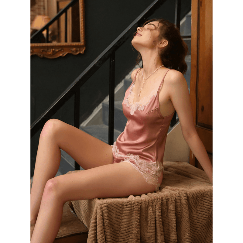 Pink N' Proper:Ren?© Satin Silk Cami and Shorts