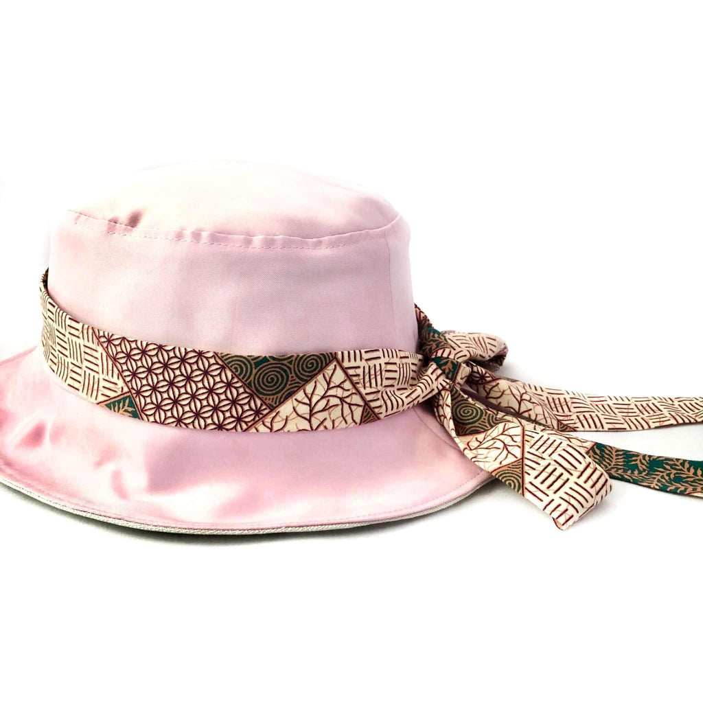 Pink N' Proper:Satin Bucket Hat in Light Pink
