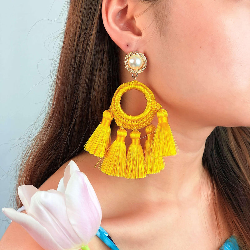 Pink N' Proper:Yellow Abigail Earrings