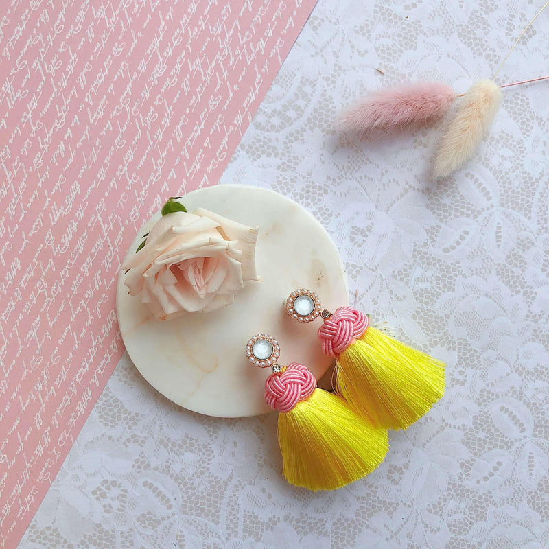 Pink N' Proper:Yellow Amelia Earrings