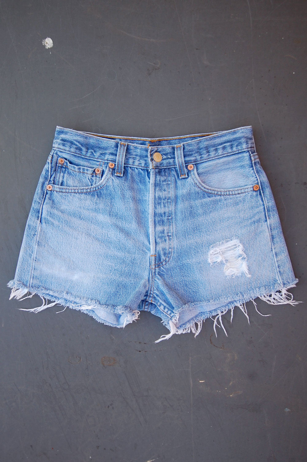 Vintage Levi's 501xx USA Feathered Cutoff Denim Shorts