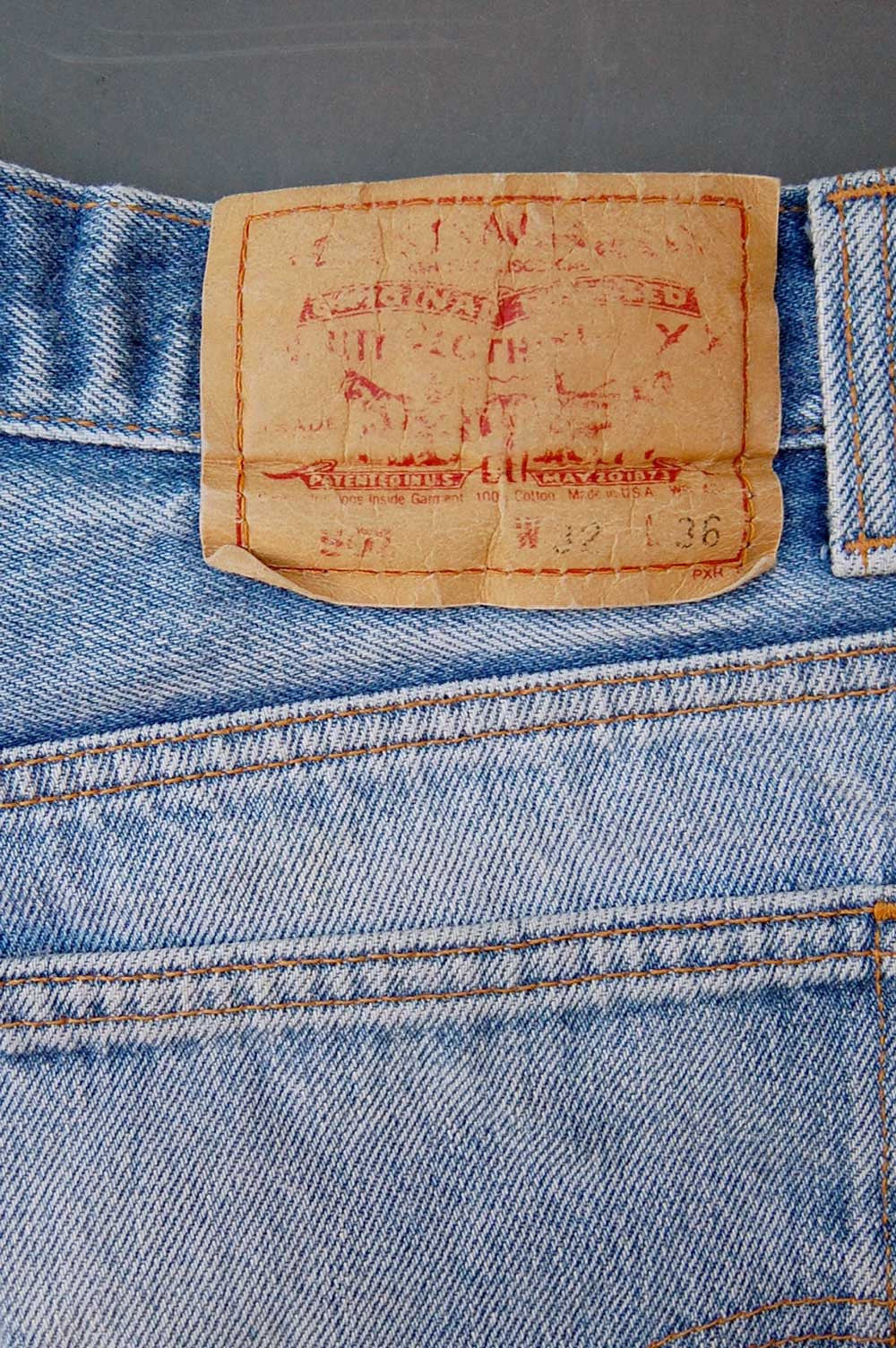 Vintage Levi's 501 USA Whiskered Cutoff Denim Shorts