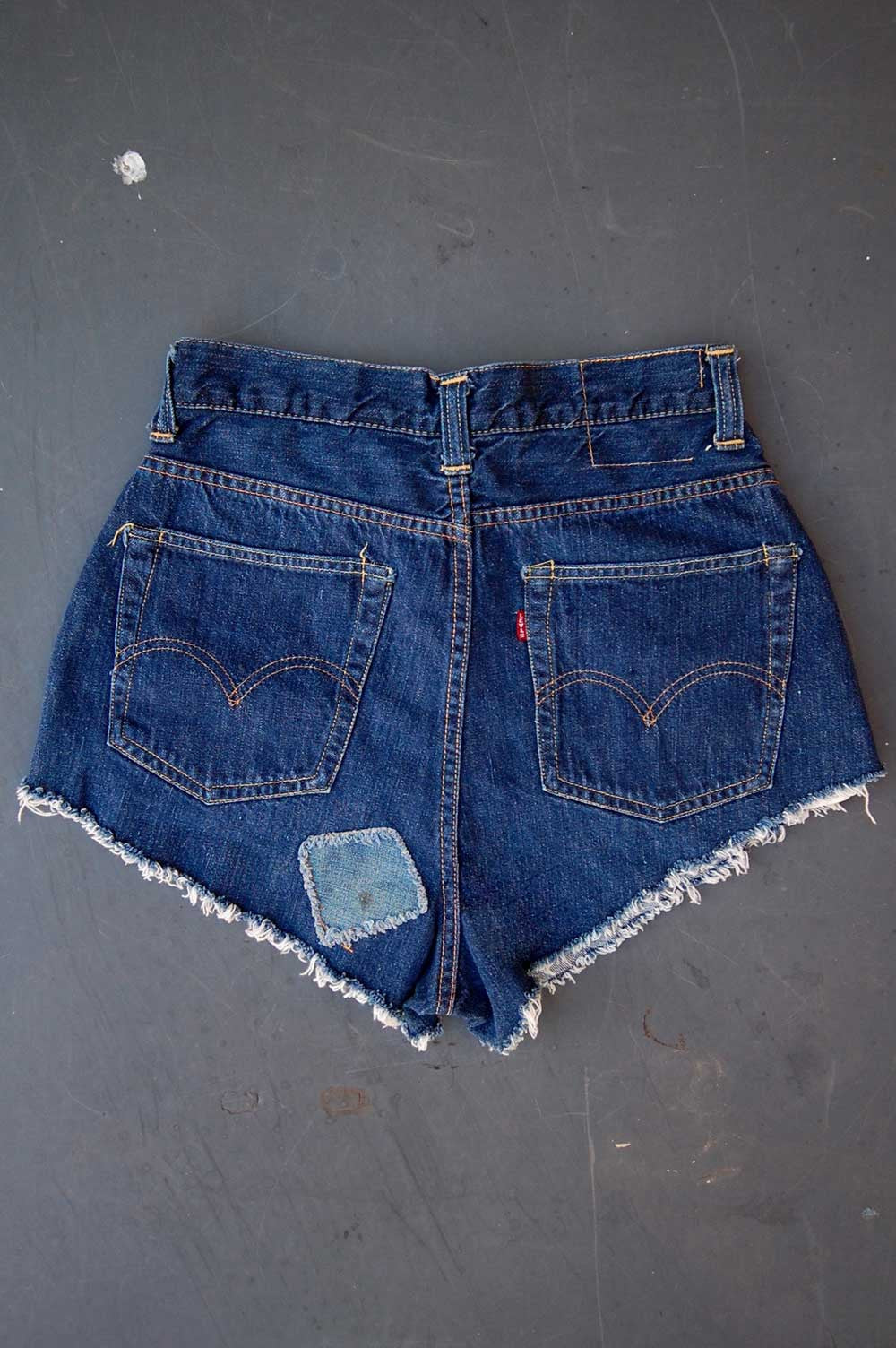 "Vintage Levi's 1950's ""Big E"" Single-Stitch Redline Selvedge USA Pin-Up Style Cutoff Denim Shorts"