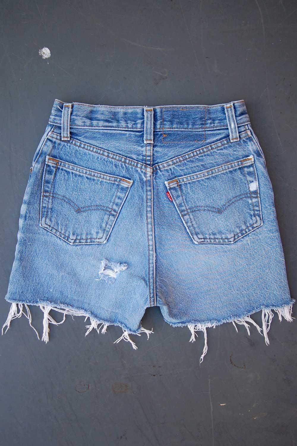 Vintage Levi's 501xx For Women USA Chain-Stitched Arrowhead Cutoff Denim Shorts