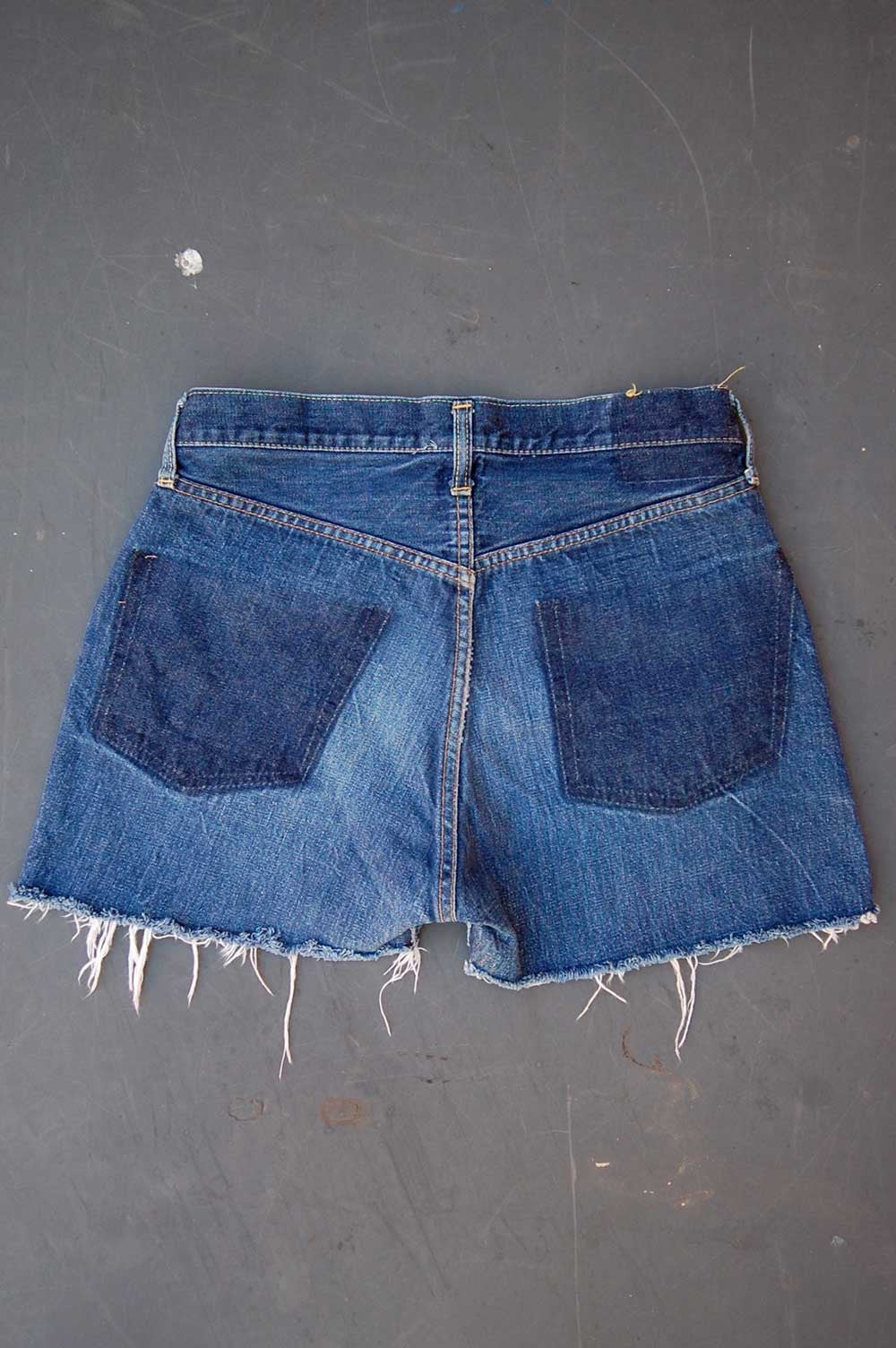 "Vintage Levi's 501 ""Big E"" Single-Stitch Redline Selvedge USA Cutoff Denim Shorts"