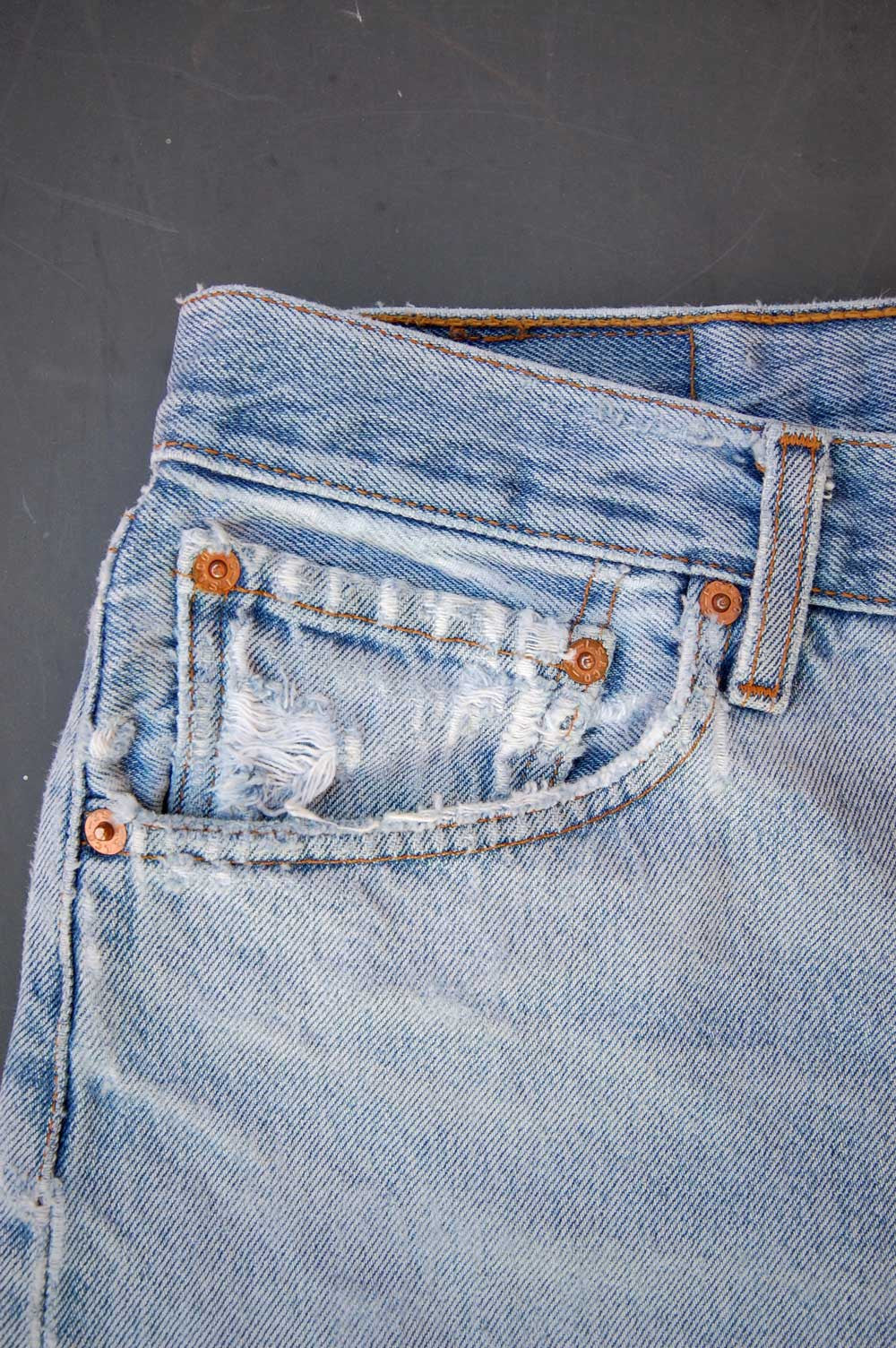 Vintage Levi's 501 Feathered Cutoff Denim Shorts