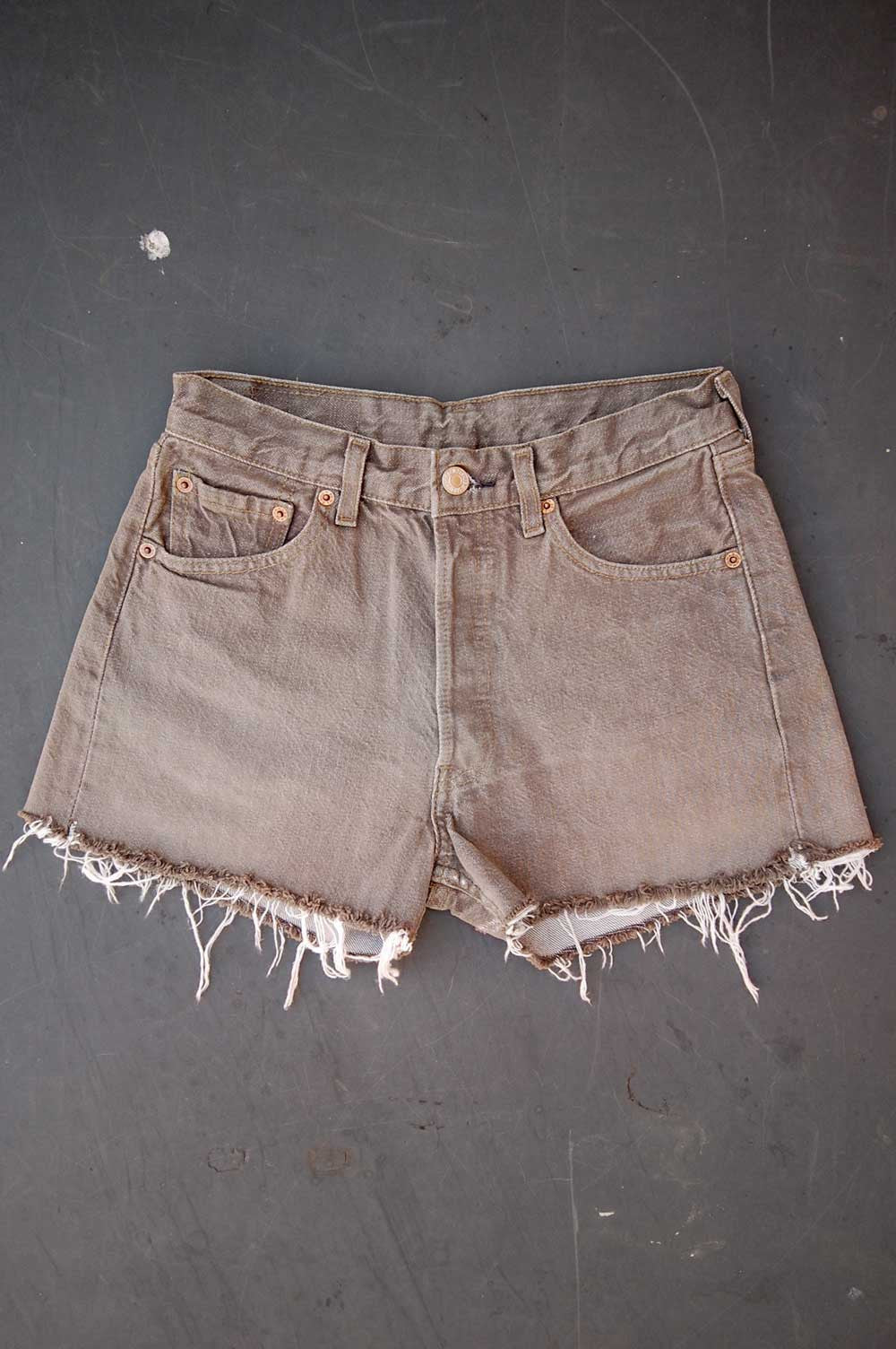 Vintage Levi's 501 Cutoff Taupe Denim Shorts