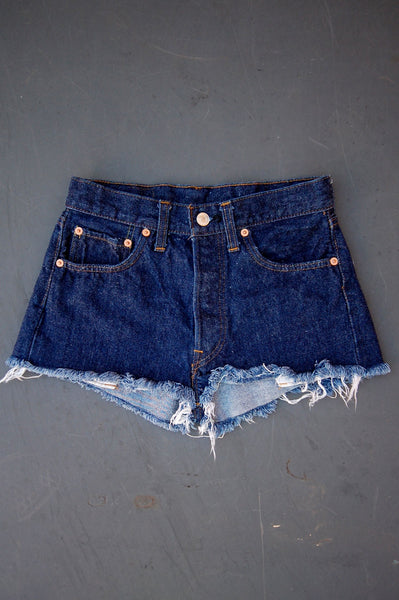 Vintage Levi's 501 Single-Stitch Redline Selvedge USA Cutoff Denim Shorts