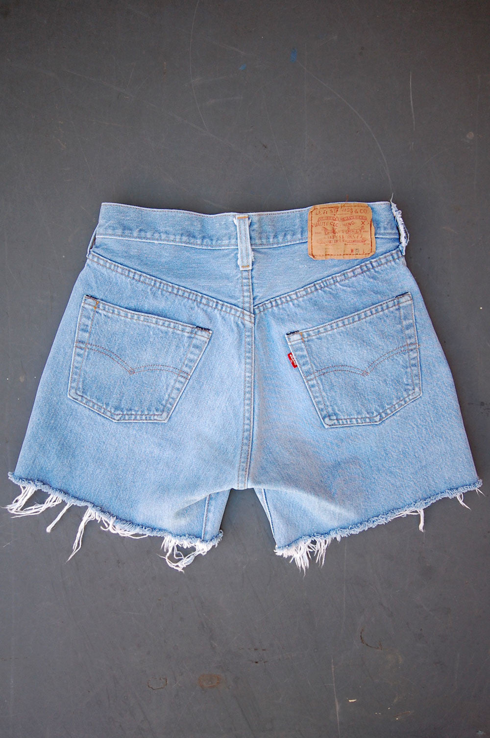 Vintage Levi's 501 Redline Selvedge USA Cutoff Denim Shorts