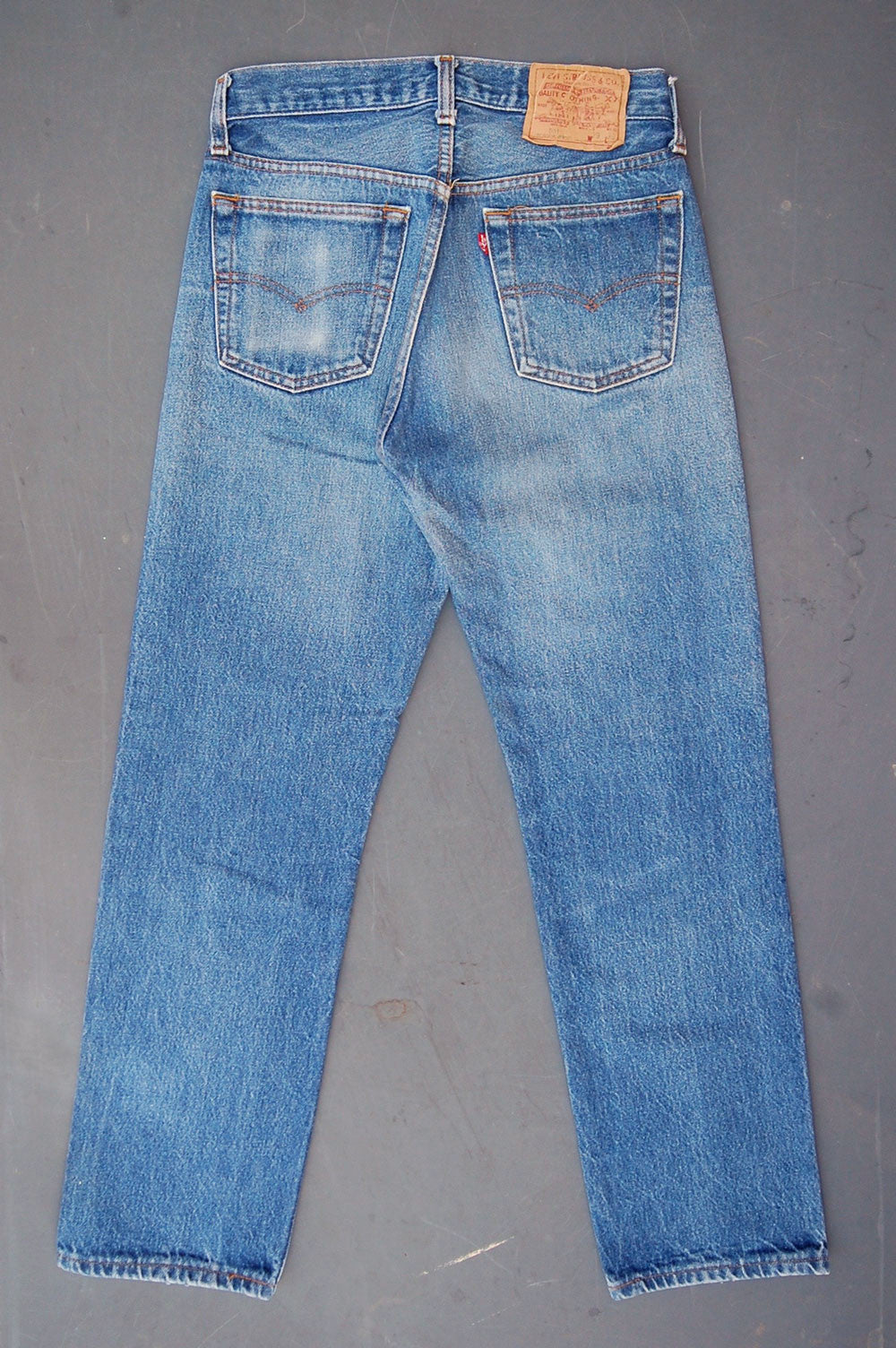 Vintage Levi's 501xx USA Transitional Whiskered Denim Jeans