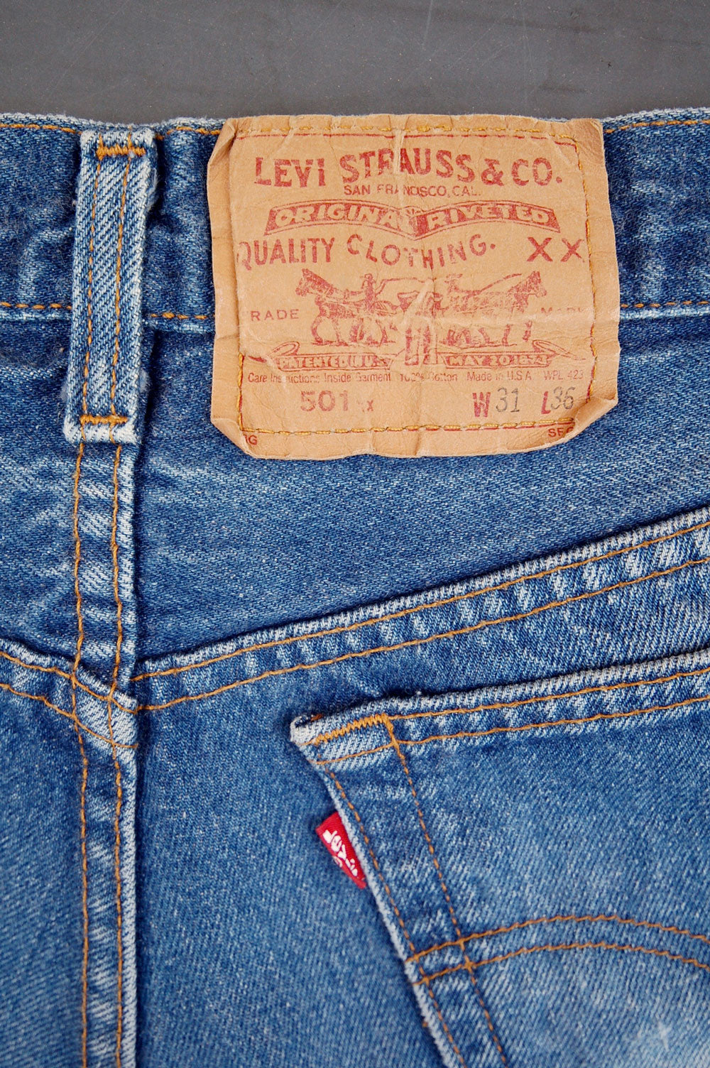 Vintage Levi's 501xx USA Transitional Denim Jeans