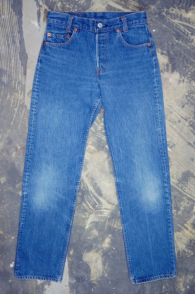 Vintage Levi's 701 Student Fit USA Transitional Denim Jeans