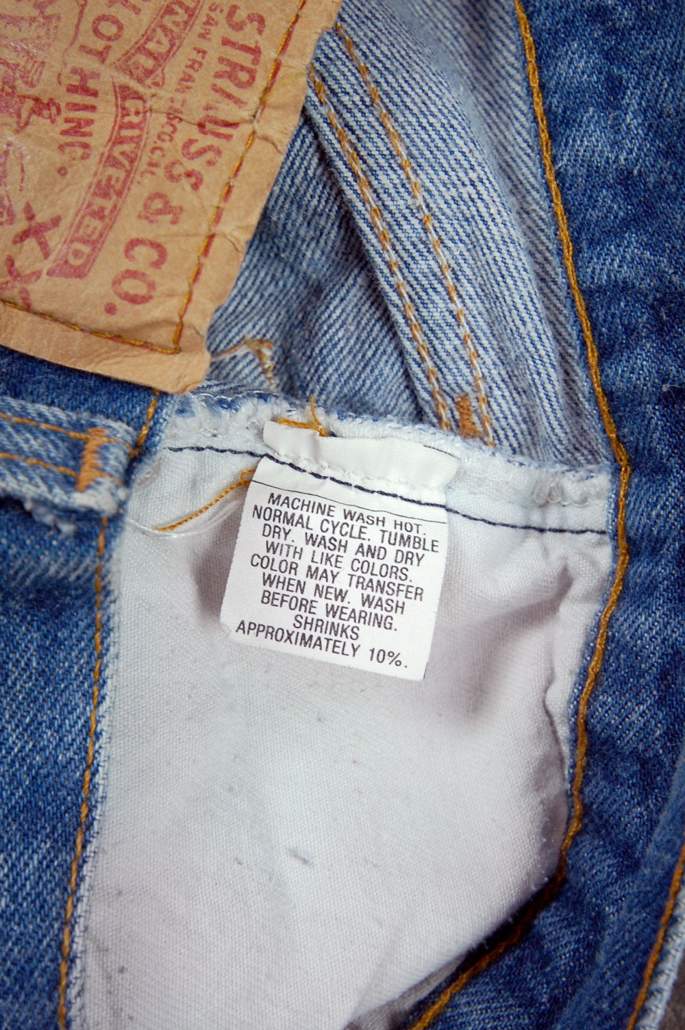 Vintage Levi's 501 USA Transitional Denim Jeans