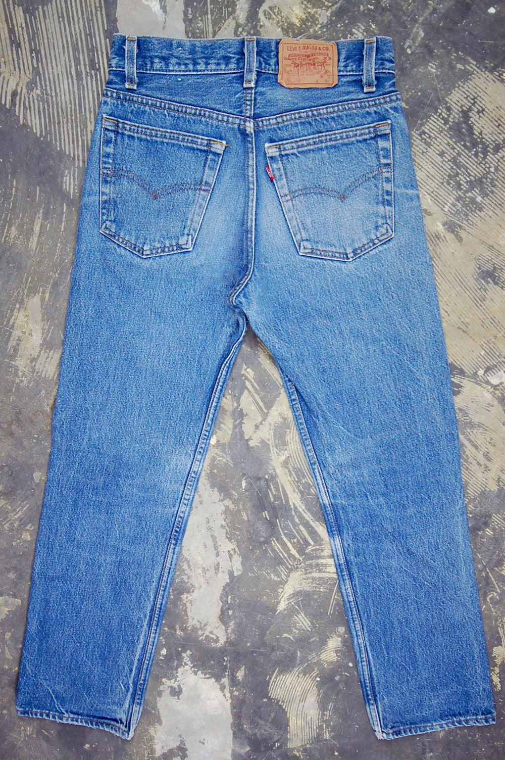 Vintage Levi's 701 Student Fit USA Transitional Whiskered & Feathered Denim Jeans