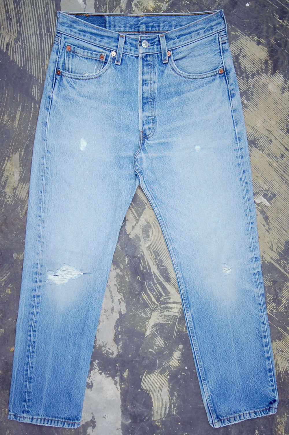Vintage Levi's 501xx USA Feathered Denim Jeans