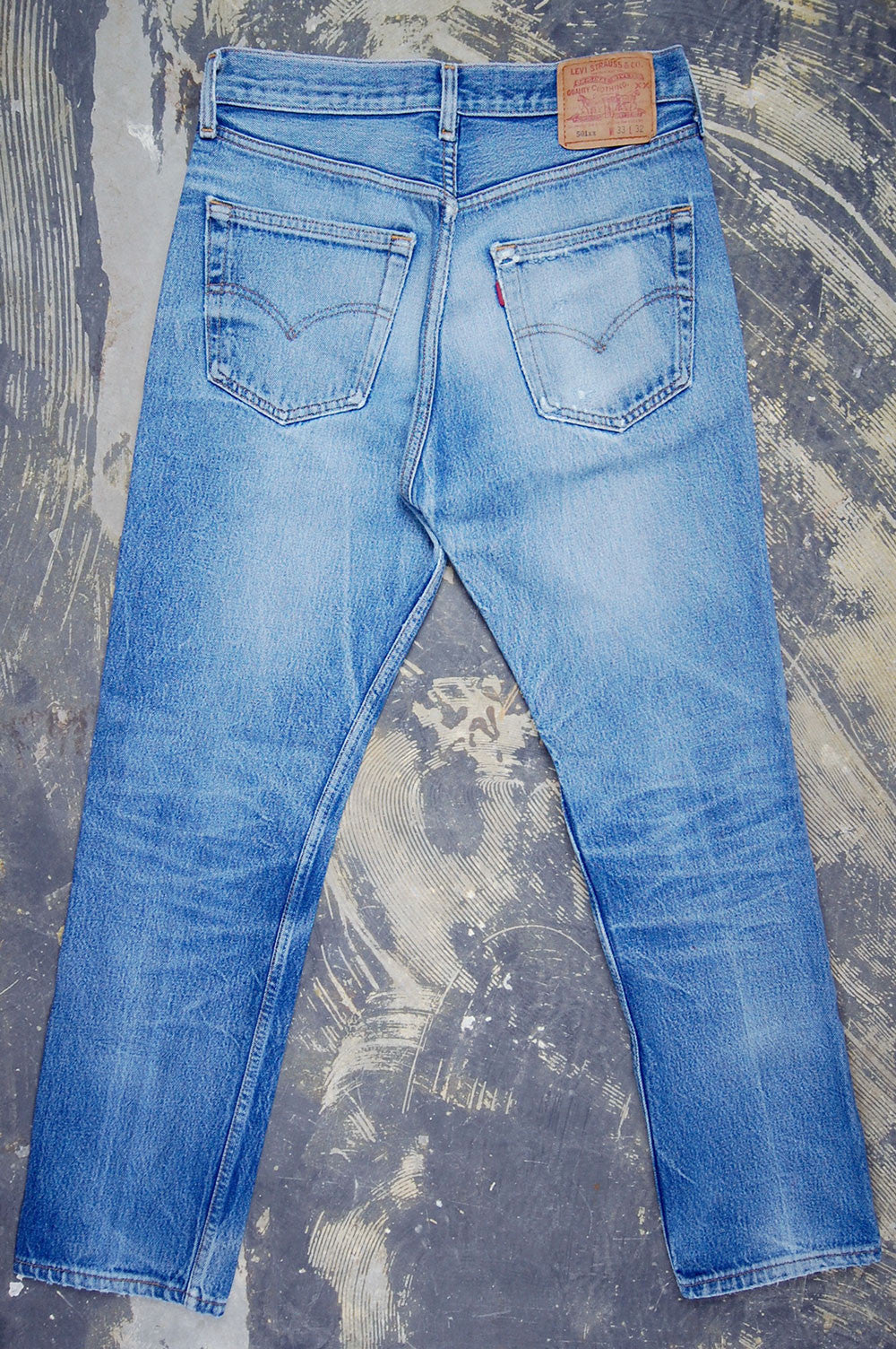 Vintage Levi's 501xx USA Super Whiskered & Feathered Denim Jeans