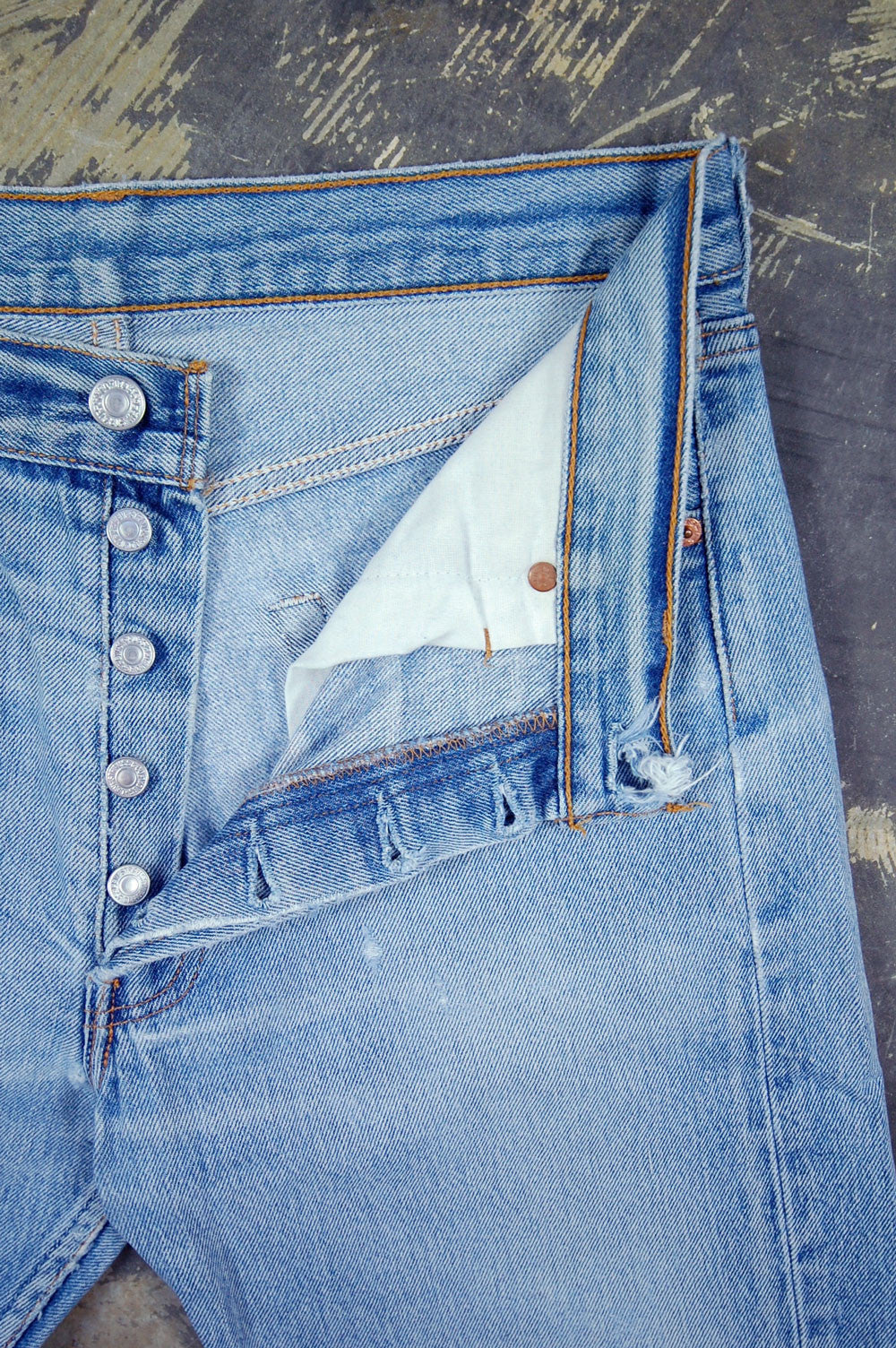 Vintage Levi's 501xx USA Super Whiskered Denim Jeans