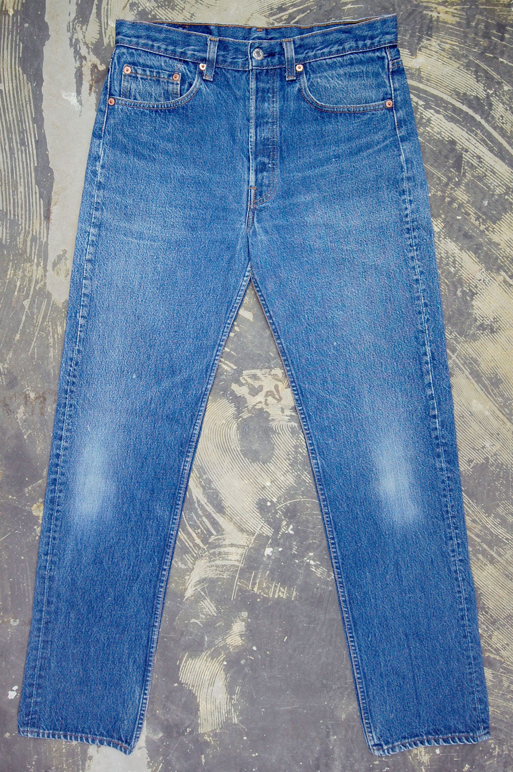 Vintage Levi's 501xx USA Transitional Two Wash Denim Jeans