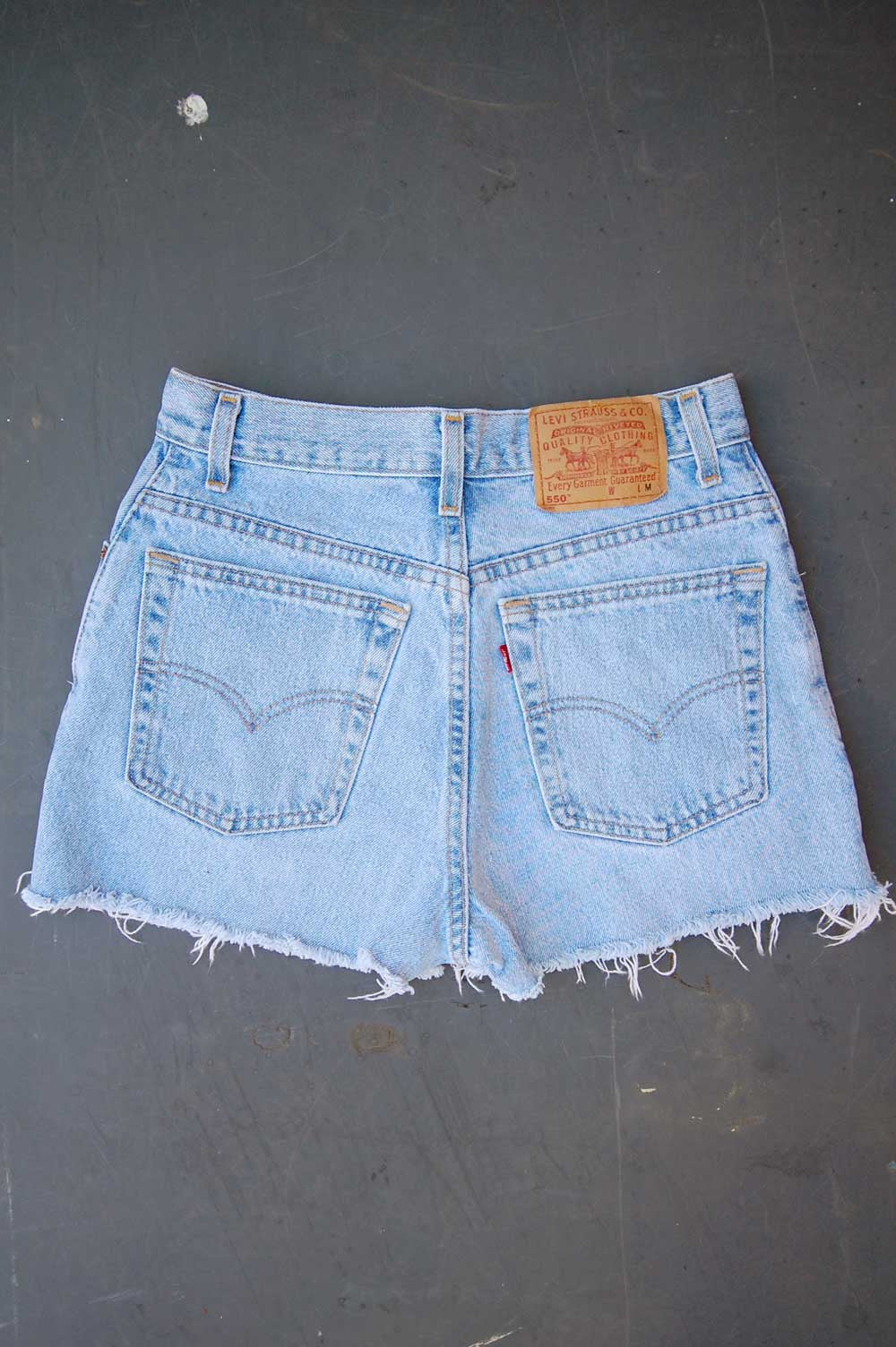 Vintage Levi's 505 USA Chain-Stitched Hearts & Music Note Cutoff Denim Shorts