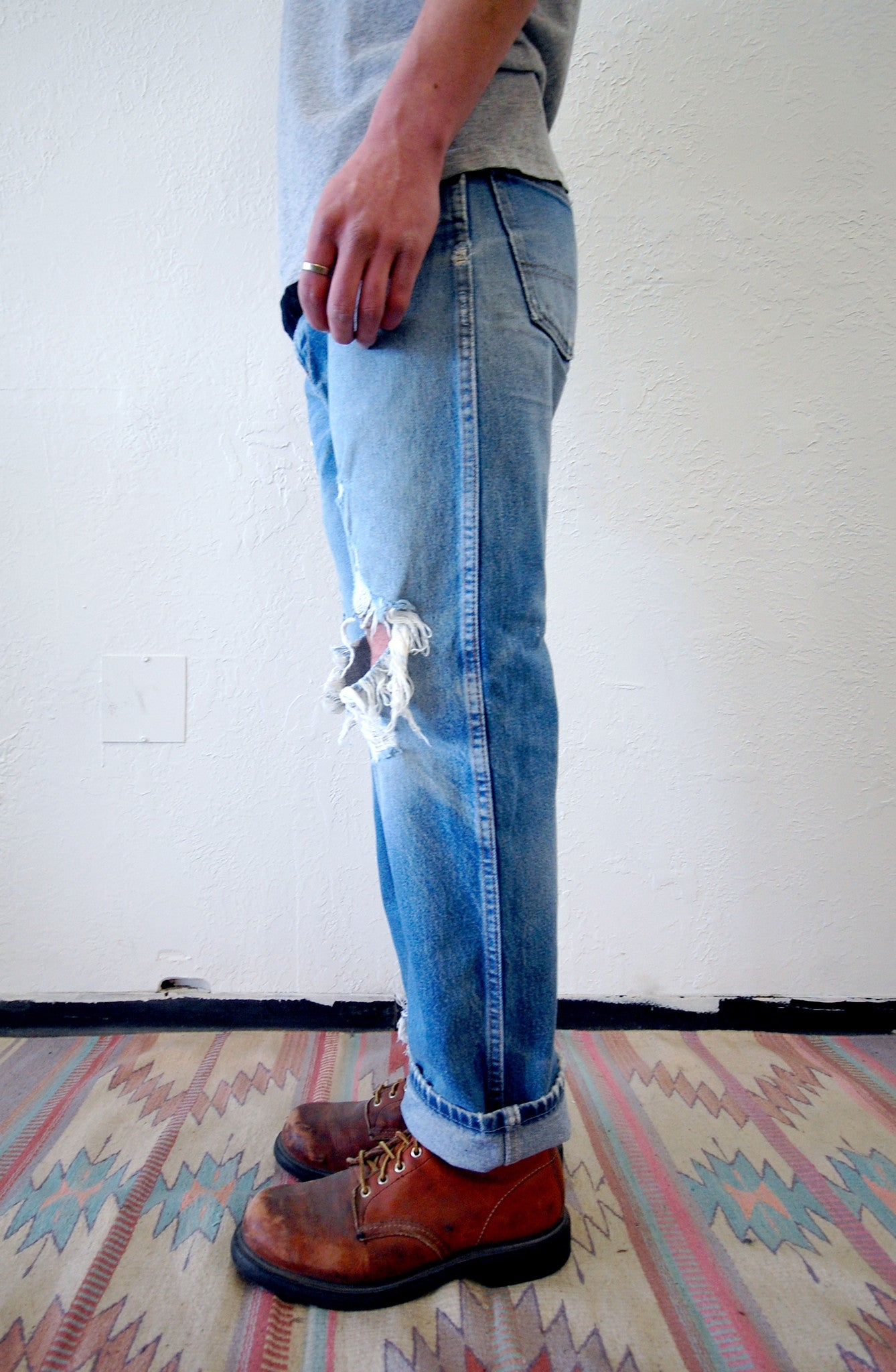 Vintage Red Tag Dickies Denim