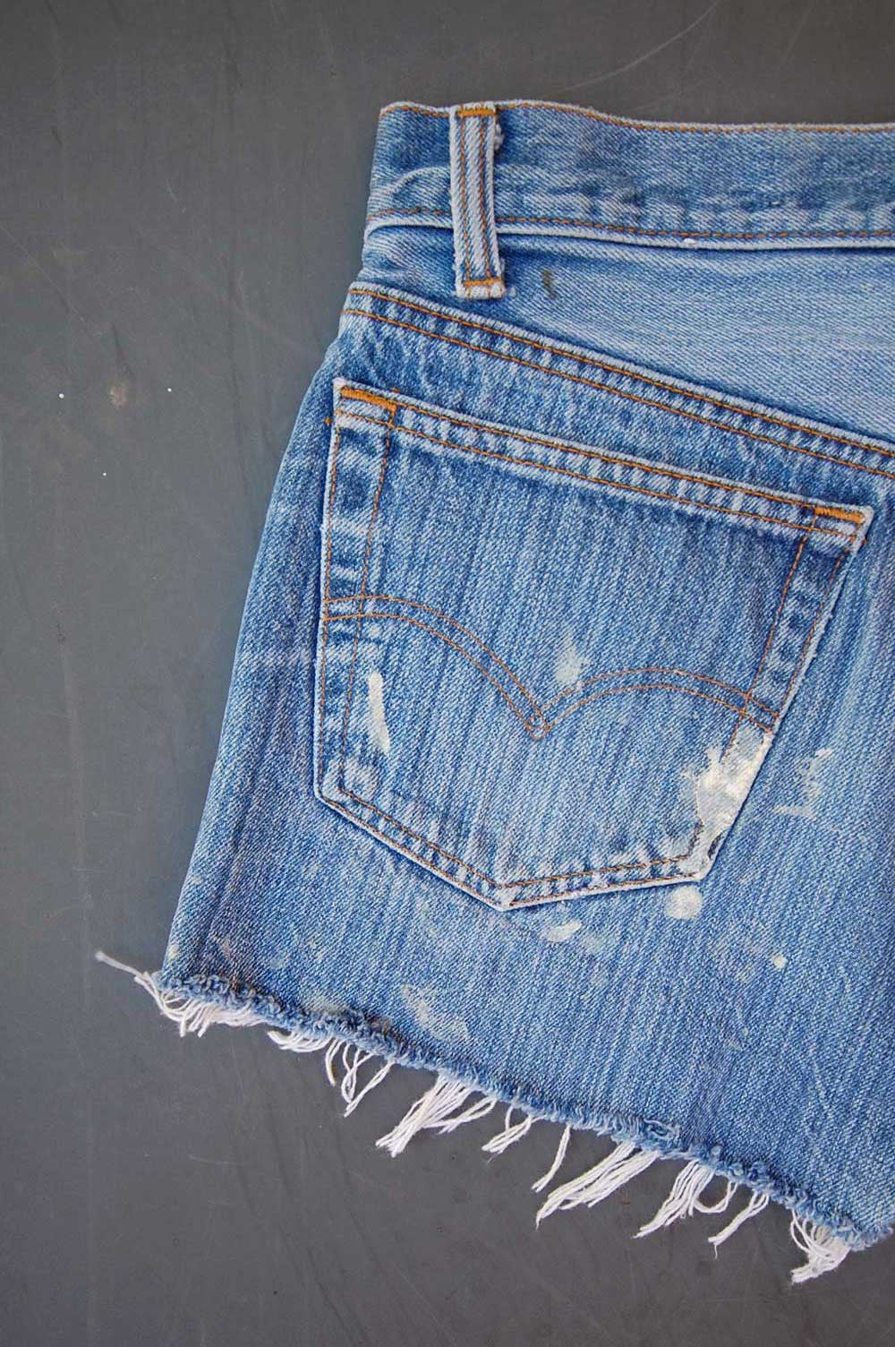 Vintage Levi's 501 USA Transitional Cutoff Denim Shorts