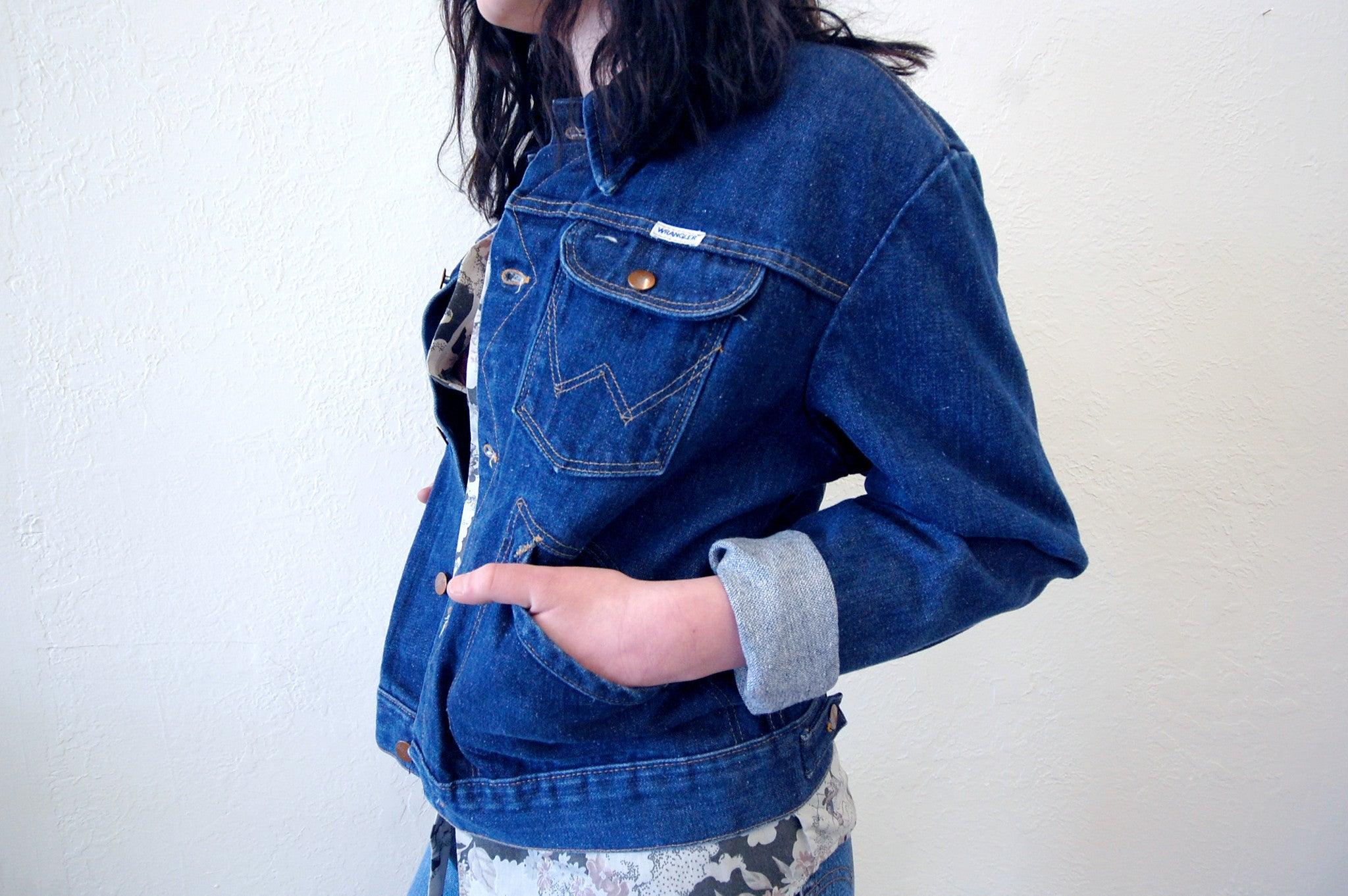 Vintage Wrangler Dark Wash Denim Jacket