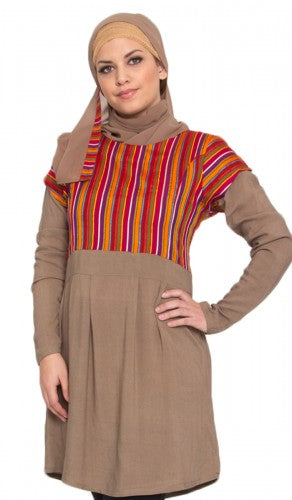 Alisha Long Cotton Islamic Tunic Dress