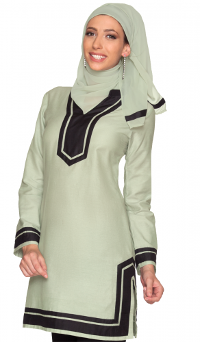 Devon Mint Green Moroccan Inspired Long Tunic