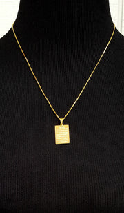 Fine 22k Gold-plated Sterling Silver Ayat al Kursi (Protection) Necklace - ARTIZARA.COM
