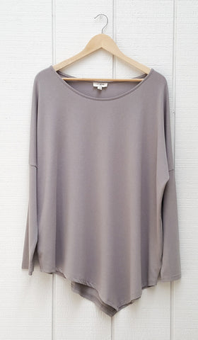 Amal Long Loose Modest Top - Silver - ARTIZARA.COM