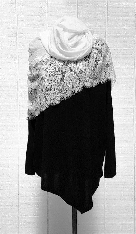Amal Long Loose Modest Muslim Top - Black