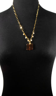 Abir Contemporary MashAllah Arabic Necklace-Onyx