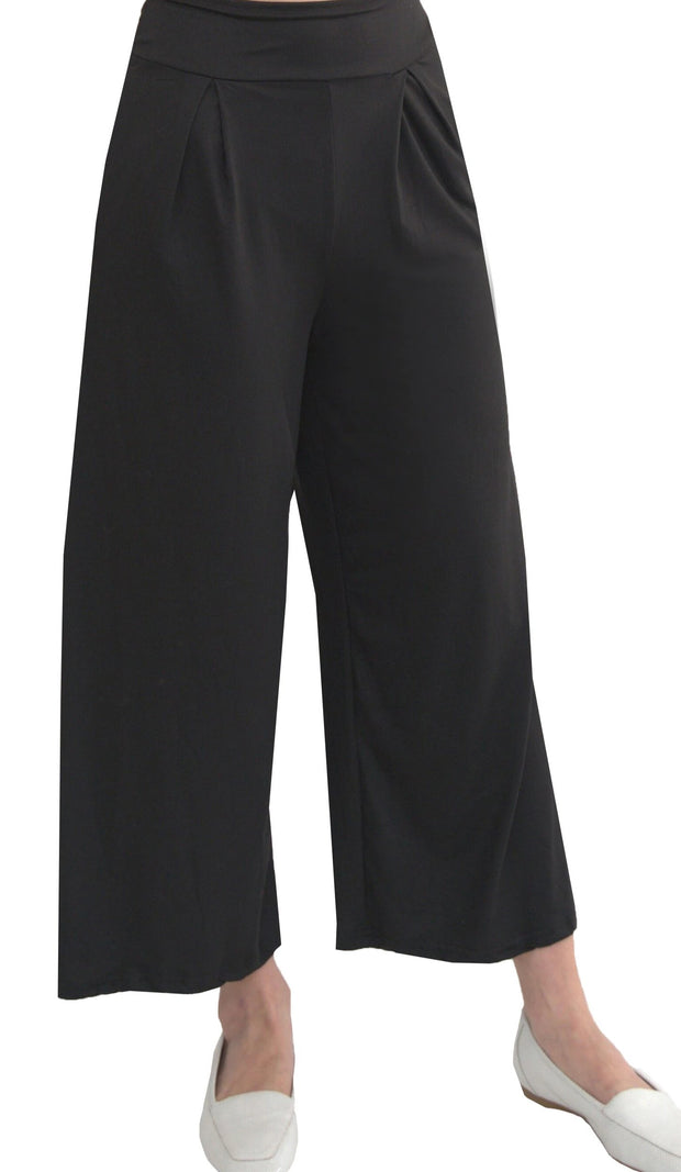 Alia Comfy Wide Leg Flowy Stretch Pants - Black