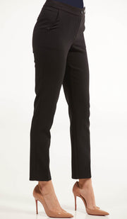 Alma Tailored Stretch Cigarette Pants - Black