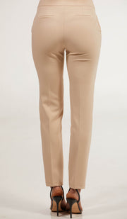Alma Tailored Stretch Cigarette Pants - Cream