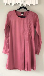 Althea Silky Formal Long Modest Tunic Dress - Vintage Rose