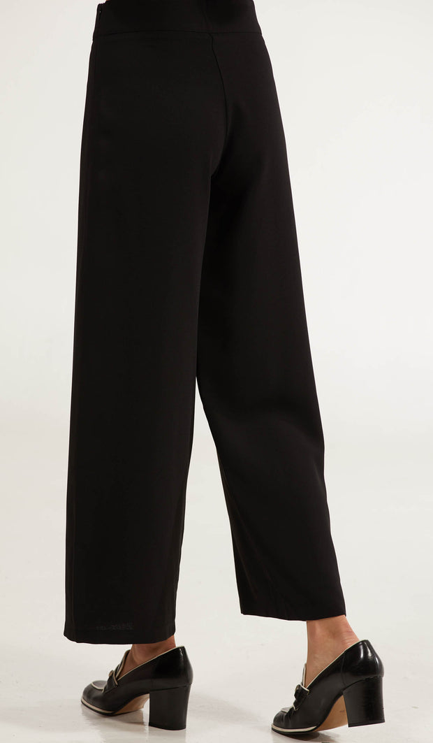 Arifa Tailored Wide Leg Pants - Black