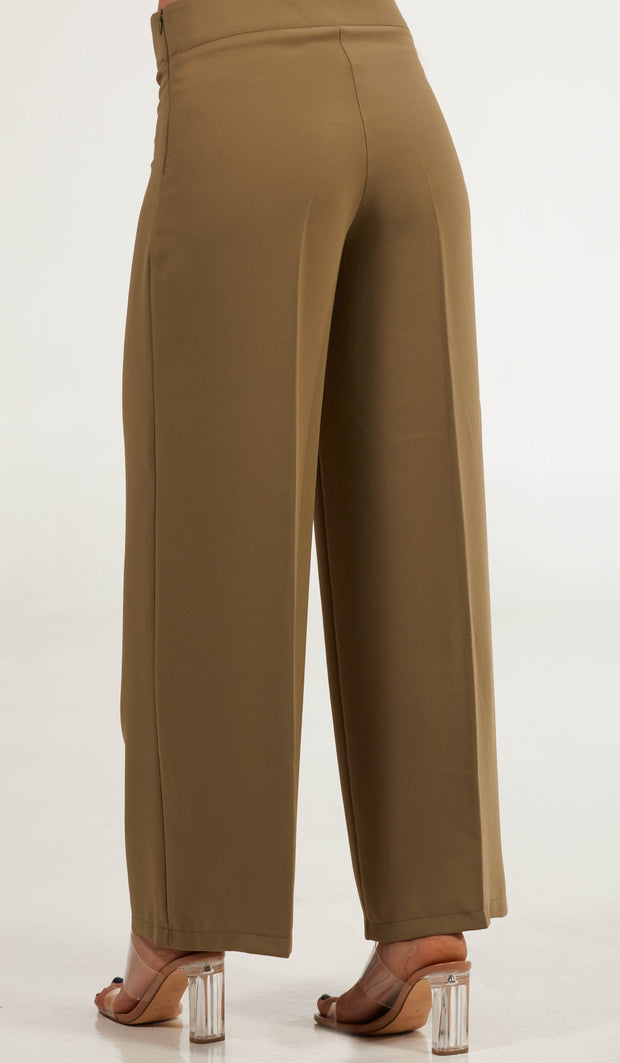 Arifa Tailored Wide Leg Pants - Sage