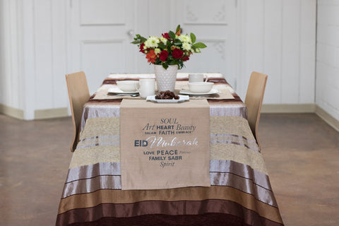 Ramadan / Eid Mubarak 60 in. Reversible Table Runner - ARTIZARA.COM