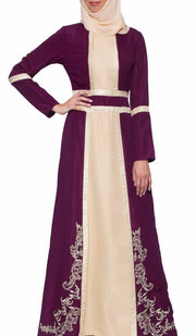 Asiya Embroidered Formal Muslim Evening Dress - Purple