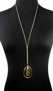 Autumn Retro Slider MashAllah Arabic Necklace-Gold
