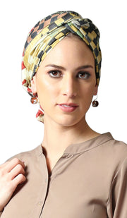 Black Brown Multicolor Artsy Print Hijab