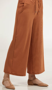 Basma Loose and Flowy Stretch Wide Leg Pants - Spice