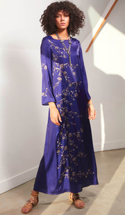 Bewilderment Formal Modest Maxi Dress Kaftan - Violet